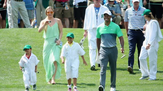 Tiger Woods with his kids