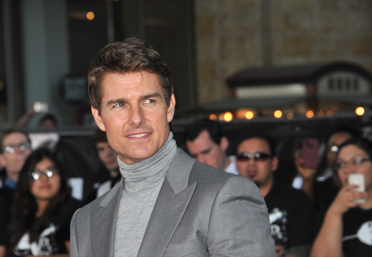 """Tom Cruise at the premiere of """"Oblivion"""" in 2013"""