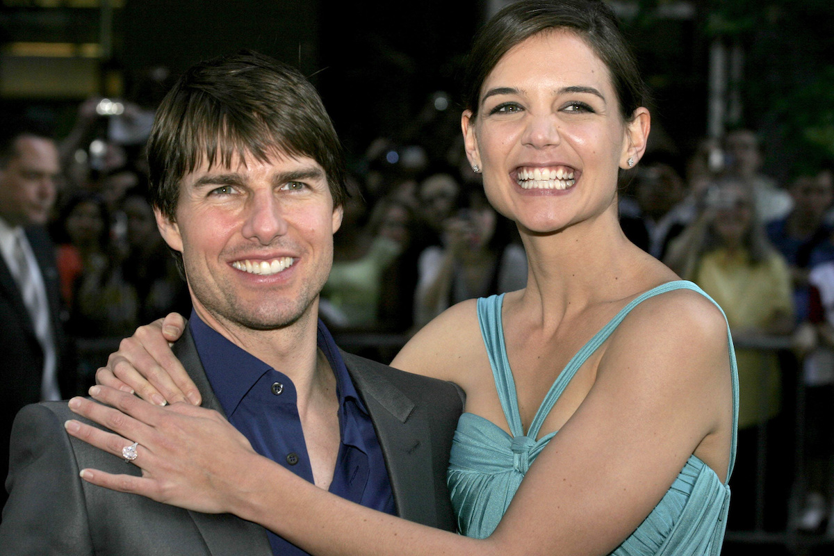 """Tom Cruise and Katie Holmes at the """"War of the Worlds"""" premiere in 2005"""