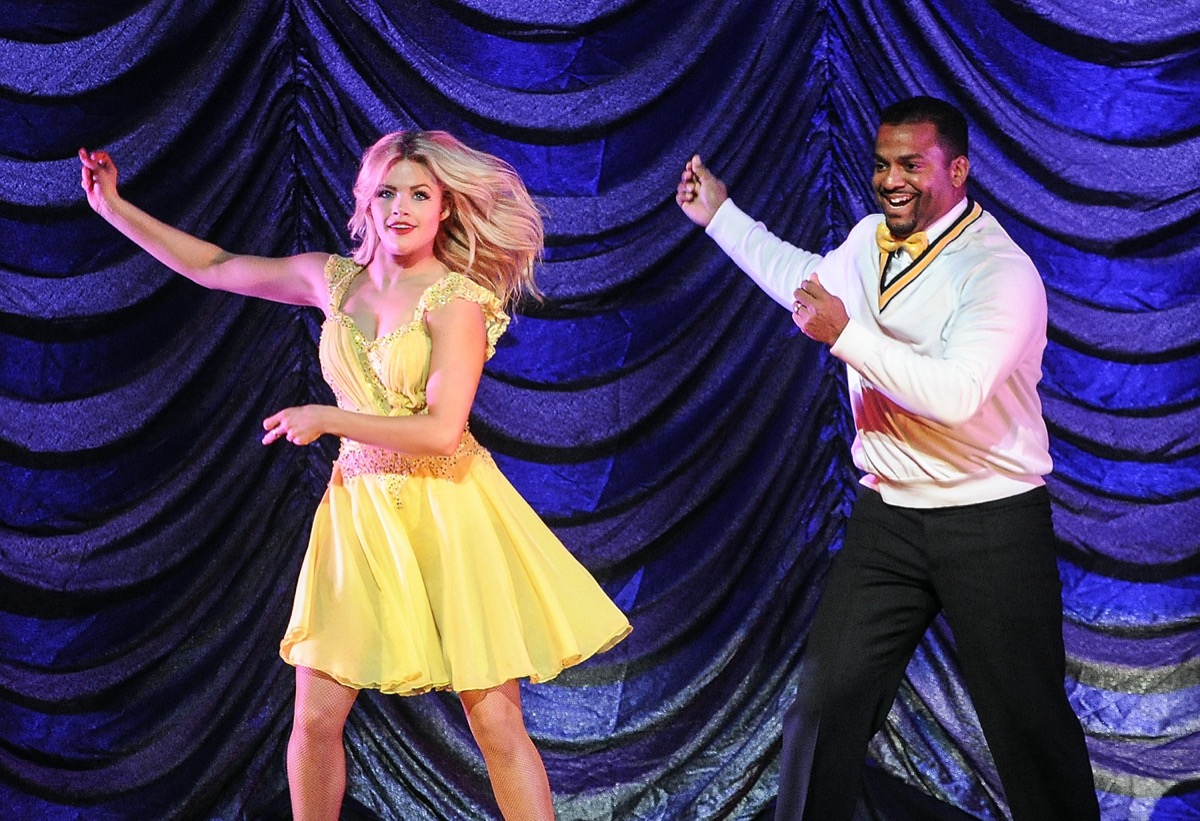 Witney Carson and Alfonso Ribeiro performing in 2015