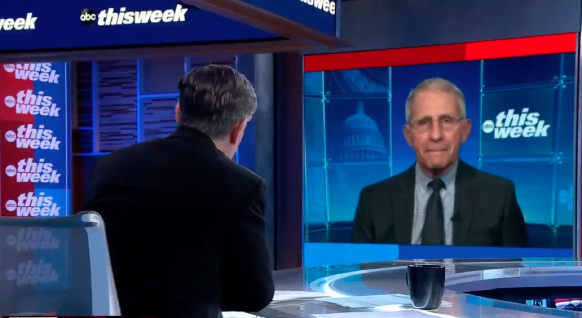 Fauci speaks to Stephanopoulos on ABC's This Week