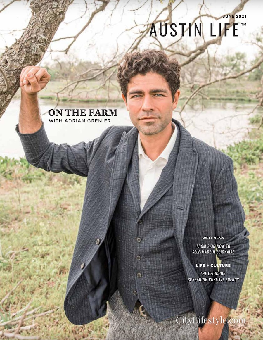 """Adrian Grenier on the cover of """"Austin Life"""""""