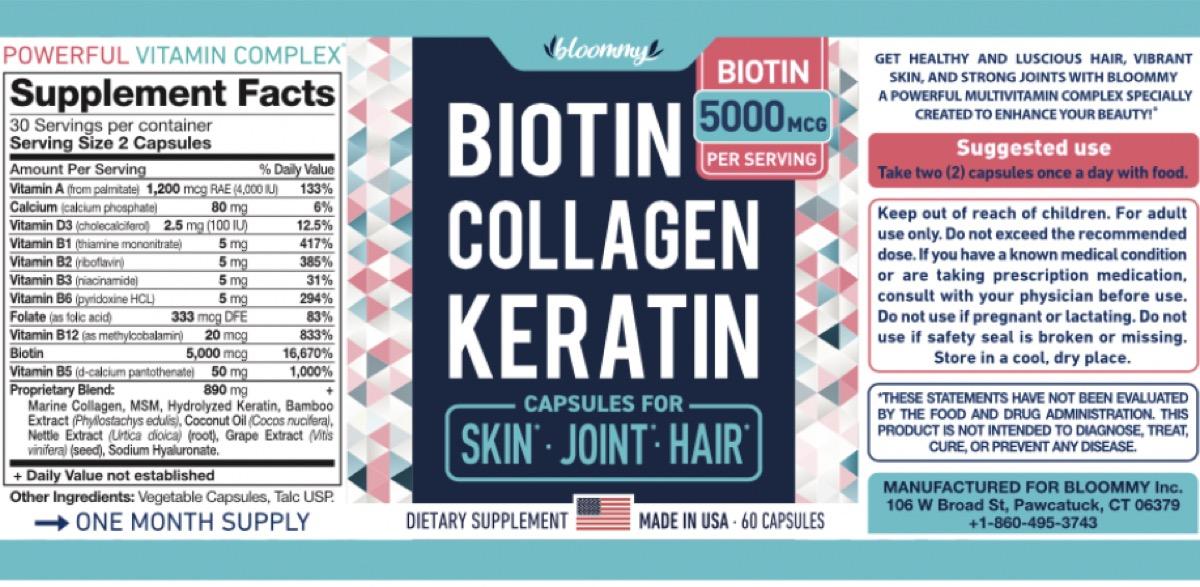 biotin collagen keratin recall