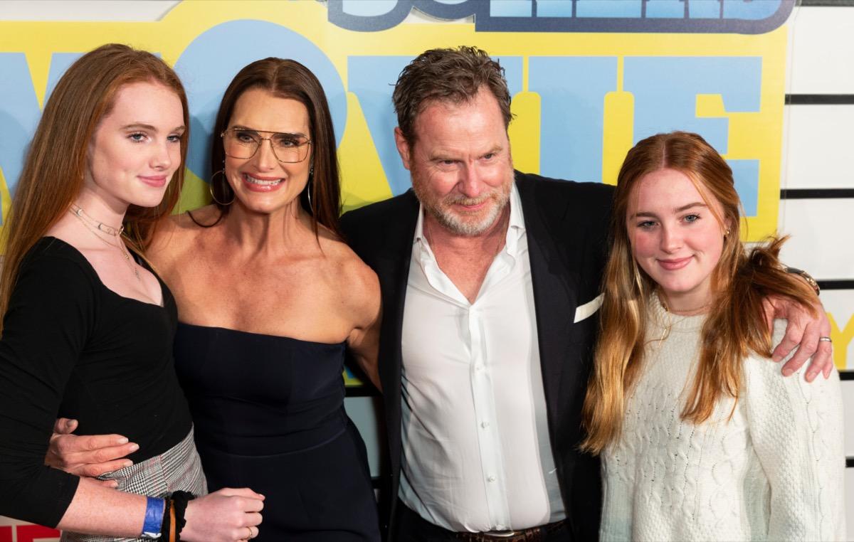 Rowan Francis Henchy, Brooke Shields, Chris Henchy, Grier Hammond Henchy in 2020