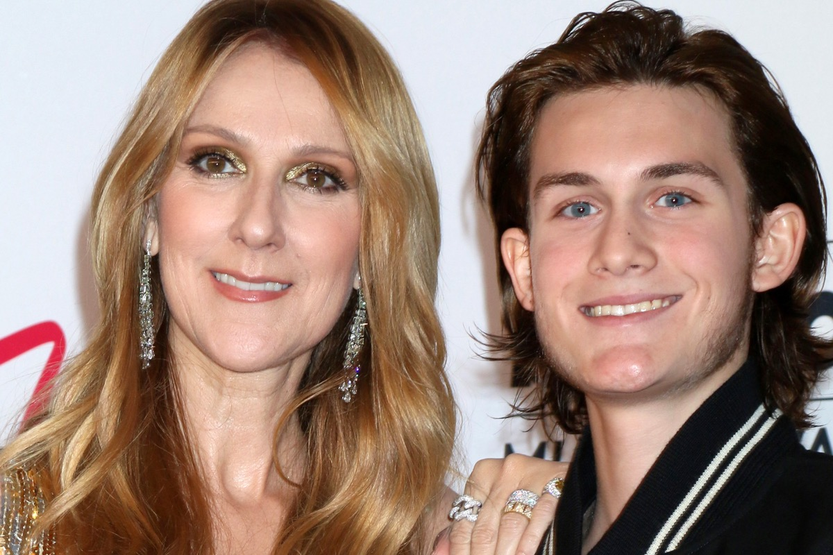 Celine Dion and son