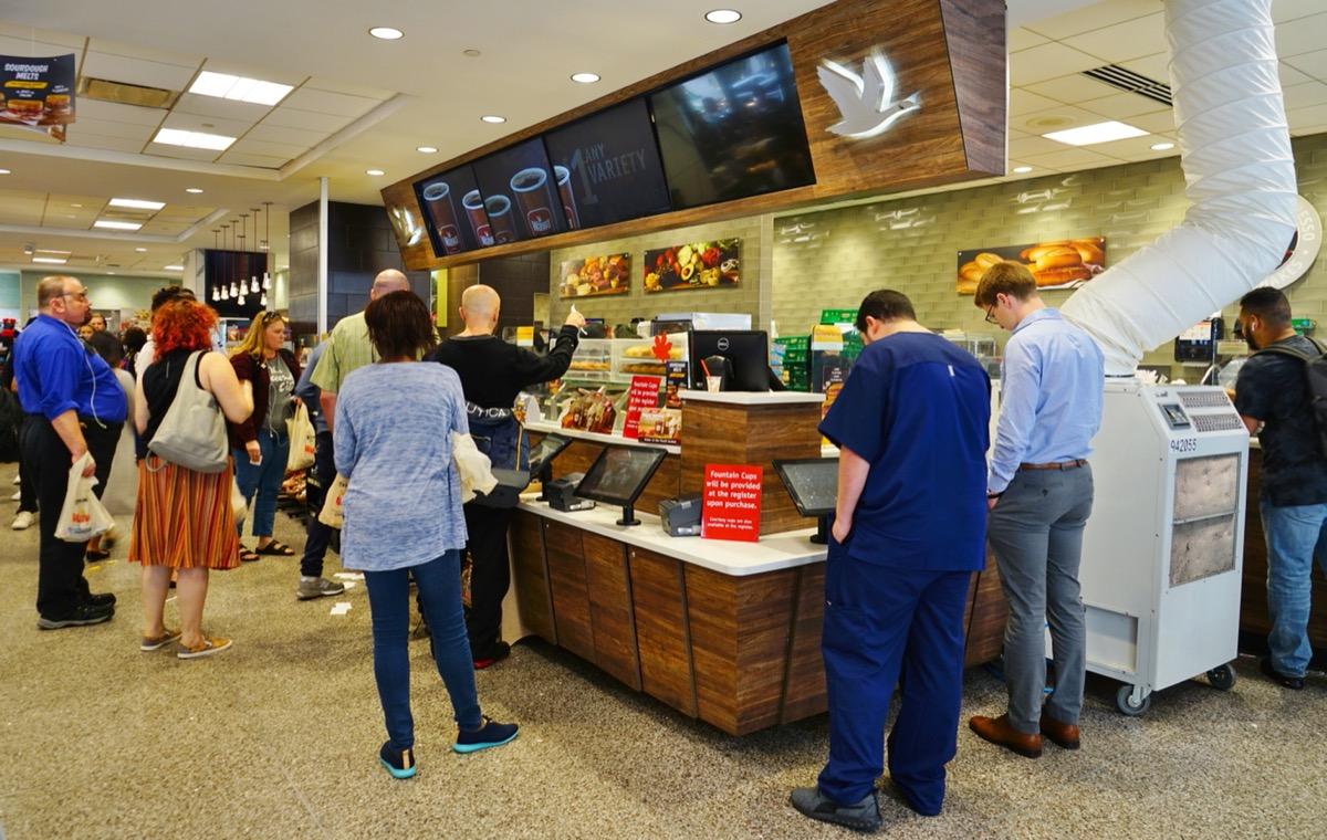 crowded wawa store in philadelphia