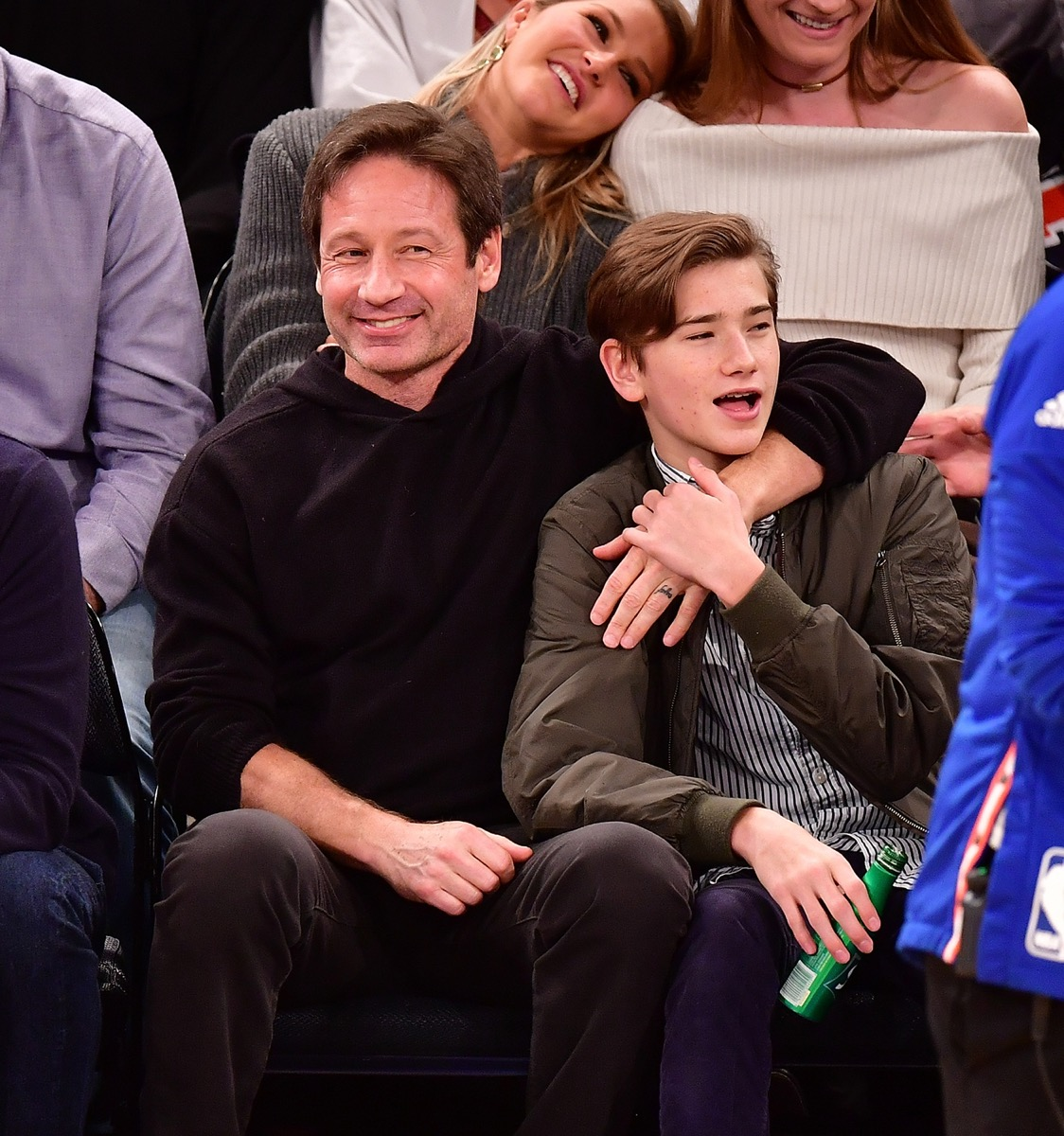 David Duchovny and Kyd Miller Duchovny 2-17