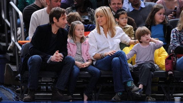 avid Duchovny, Madelaine Duchovny, Tea Leoni and Kyd Duchovny in 2008
