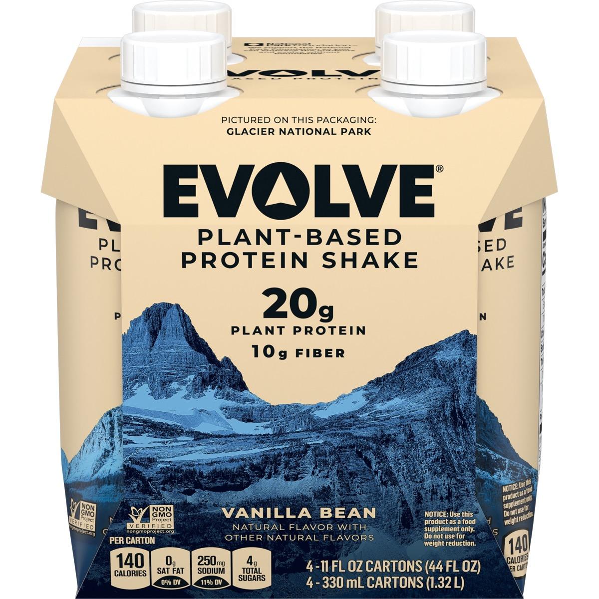 evolve vanilla protein shakes in tetra pak