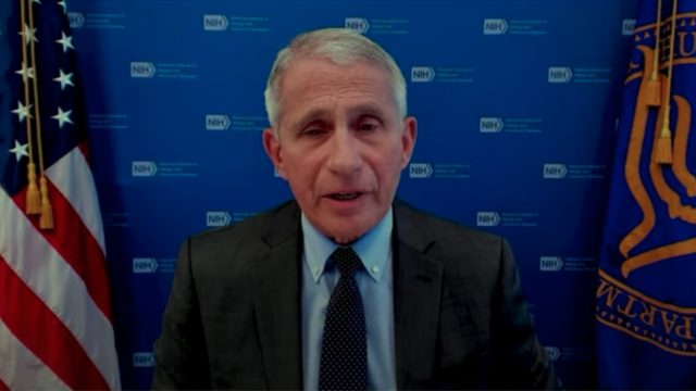 Dr. Anthony Fauci speaking during a White House COVID-19 Response Team press briefing