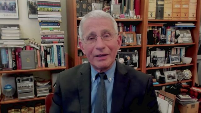 Fauci was virtually interviewed on Jimmy Kimmel Live!