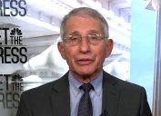 Dr. Anthony Fauci appearing on Meet the Press on May 9, 2021