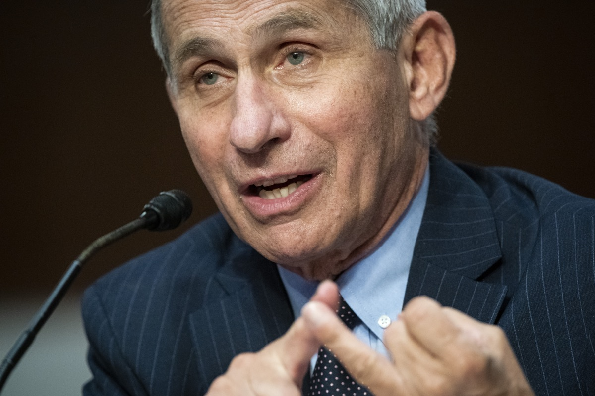 dr. fauci speaks at a meeting