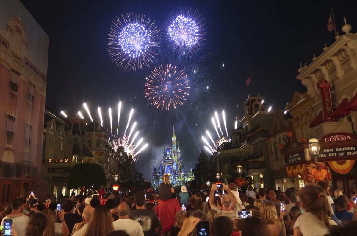 fireworks, disney, pre-covid