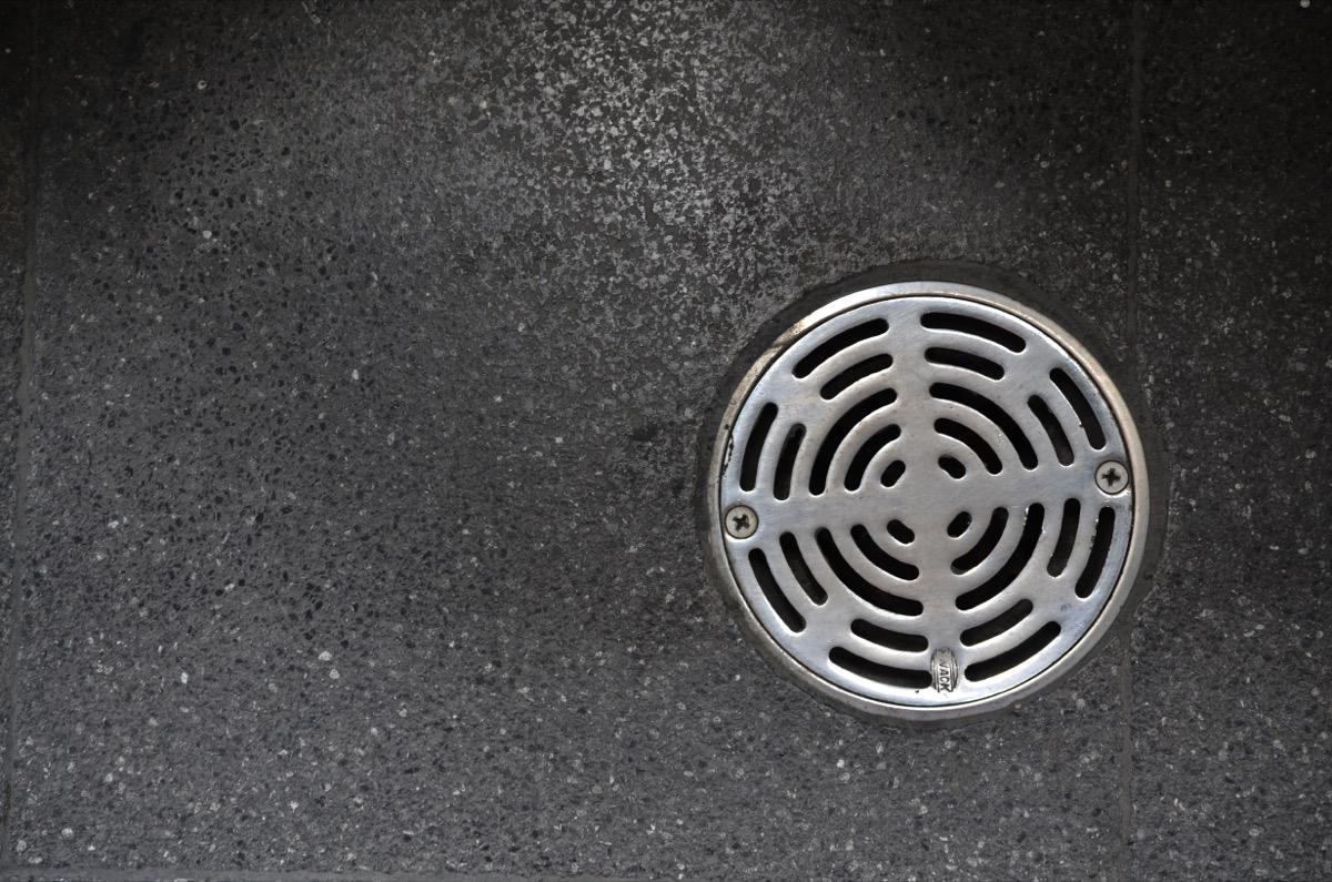 drain in floor