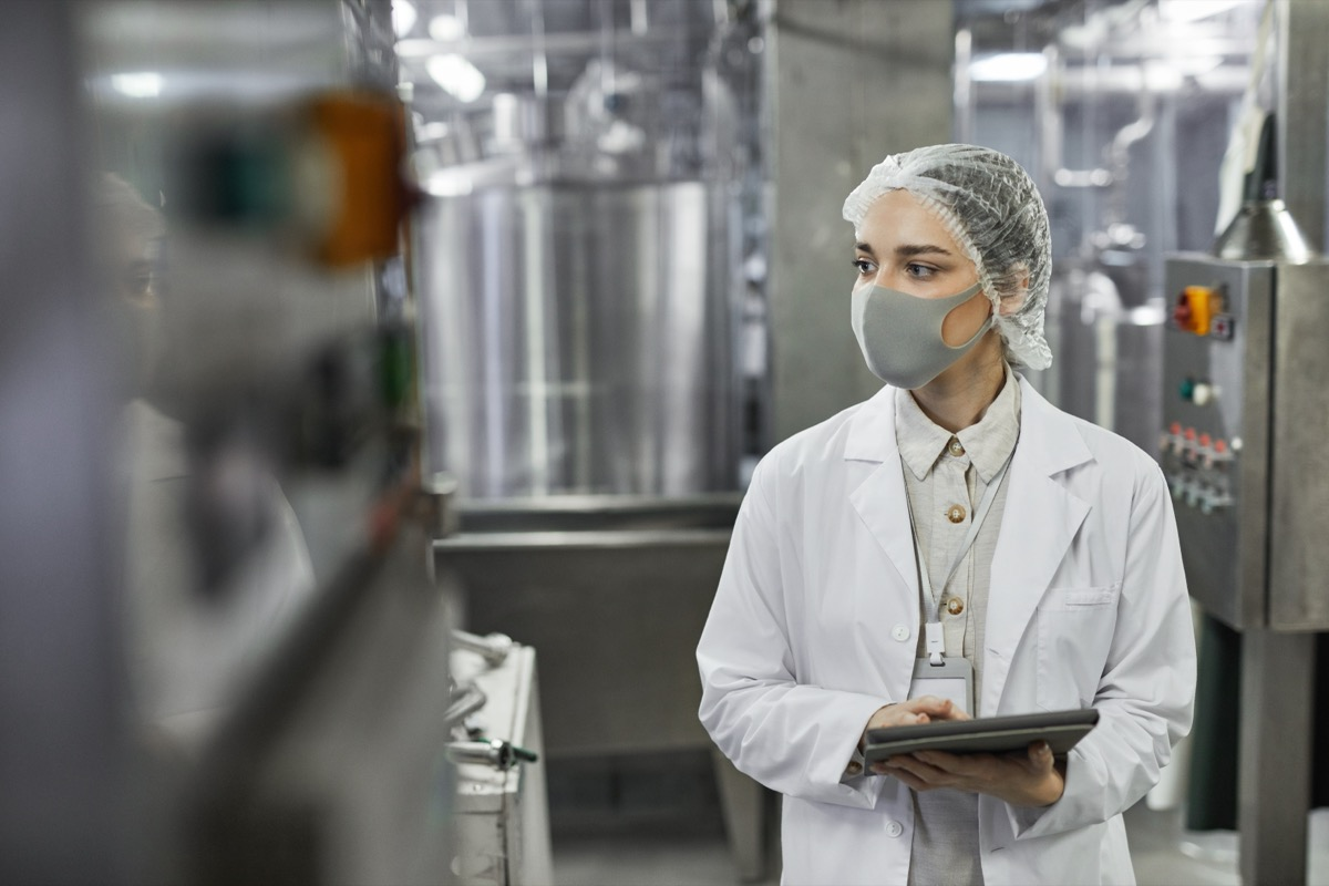 food inspector at factory