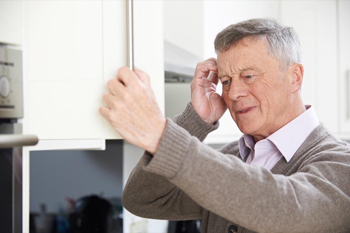 Forgetful older man upset