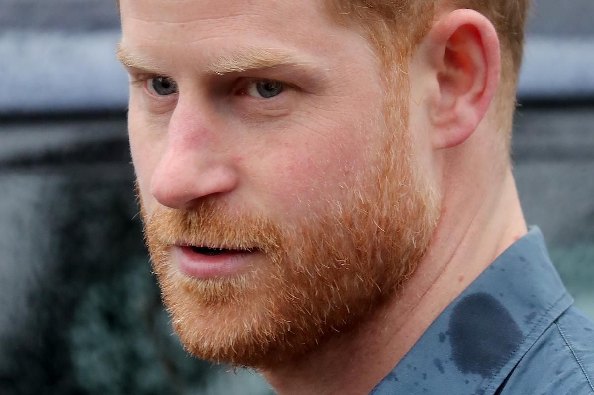 Closeup of Prince Harry, Duke of Sussex