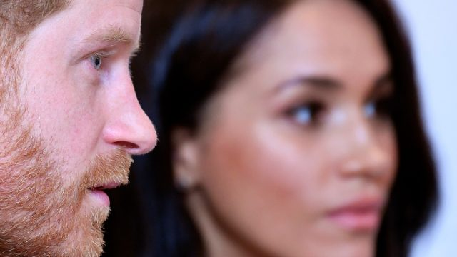 closeup of Prince Harry, Duke of Sussex and Meghan, Duchess of Sussex