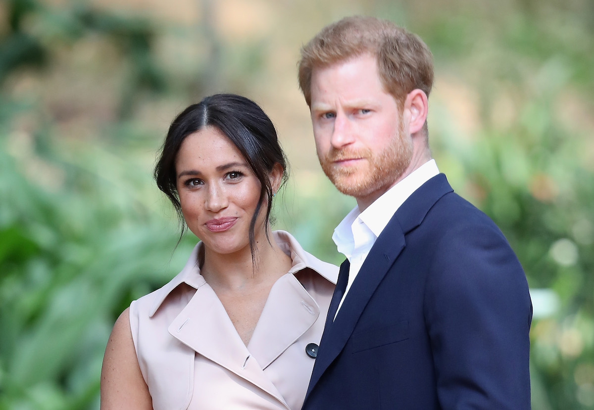 Prince Harry, Duke of Sussex and Meghan, Duchess of Sussex on October 2, 2019 in Johannesburg, South Africa.