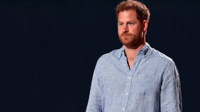 Prince Harry, The Duke of Sussex, speaks onstage during Global Citizen VAX LIVE: The Concert To Reunite The World at SoFi Stadium in Inglewood, California