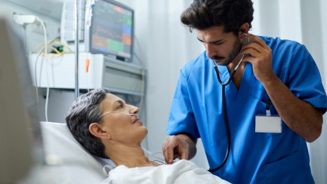 Hospital health care and medicine.