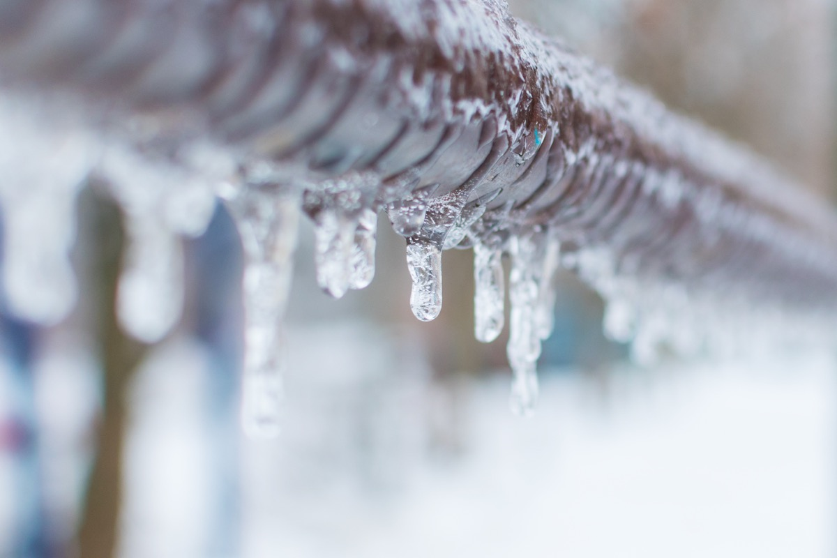 icicles on a pipe