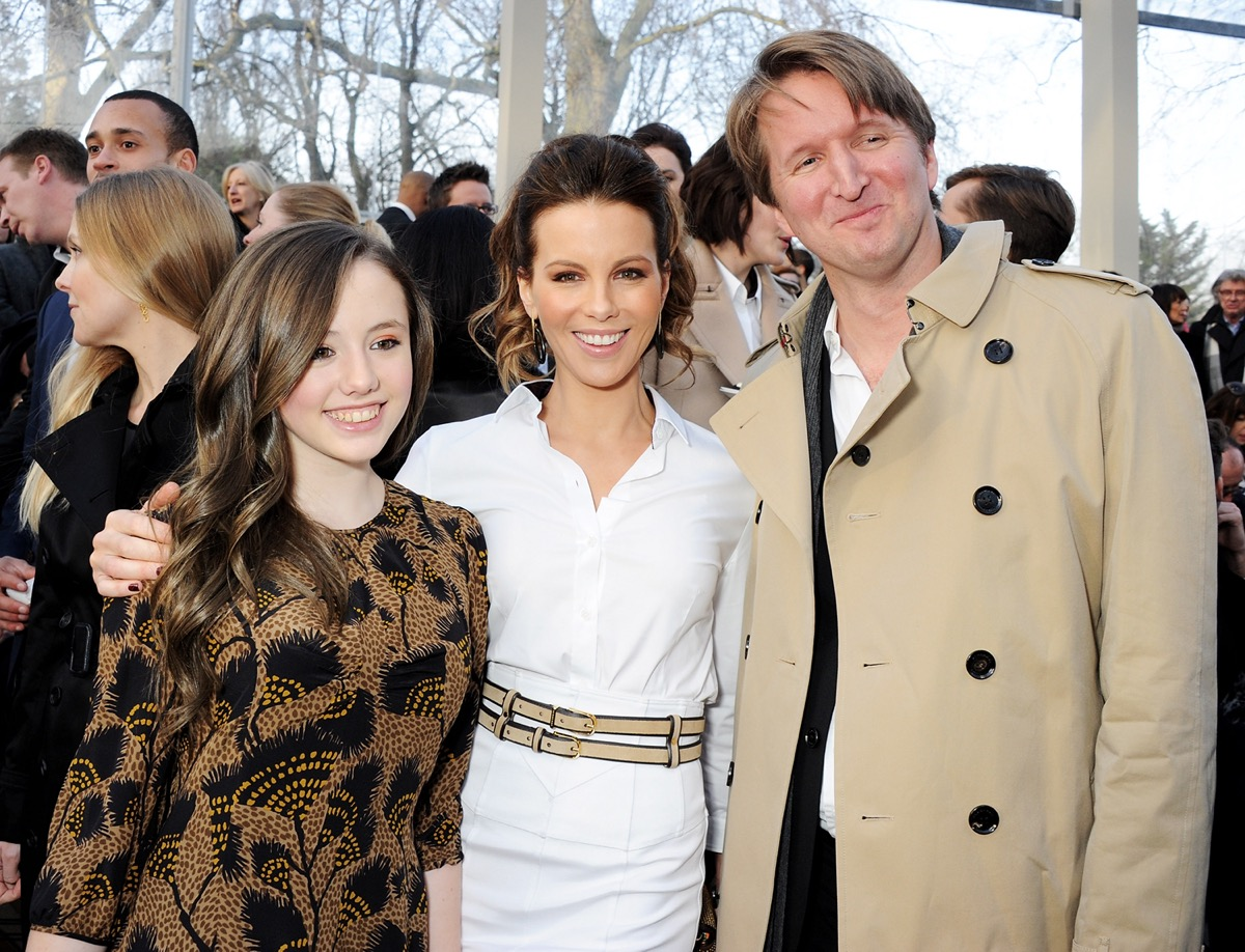 Lily Mo Sheen, Kate Beckinsale and Tom Hooper 2013