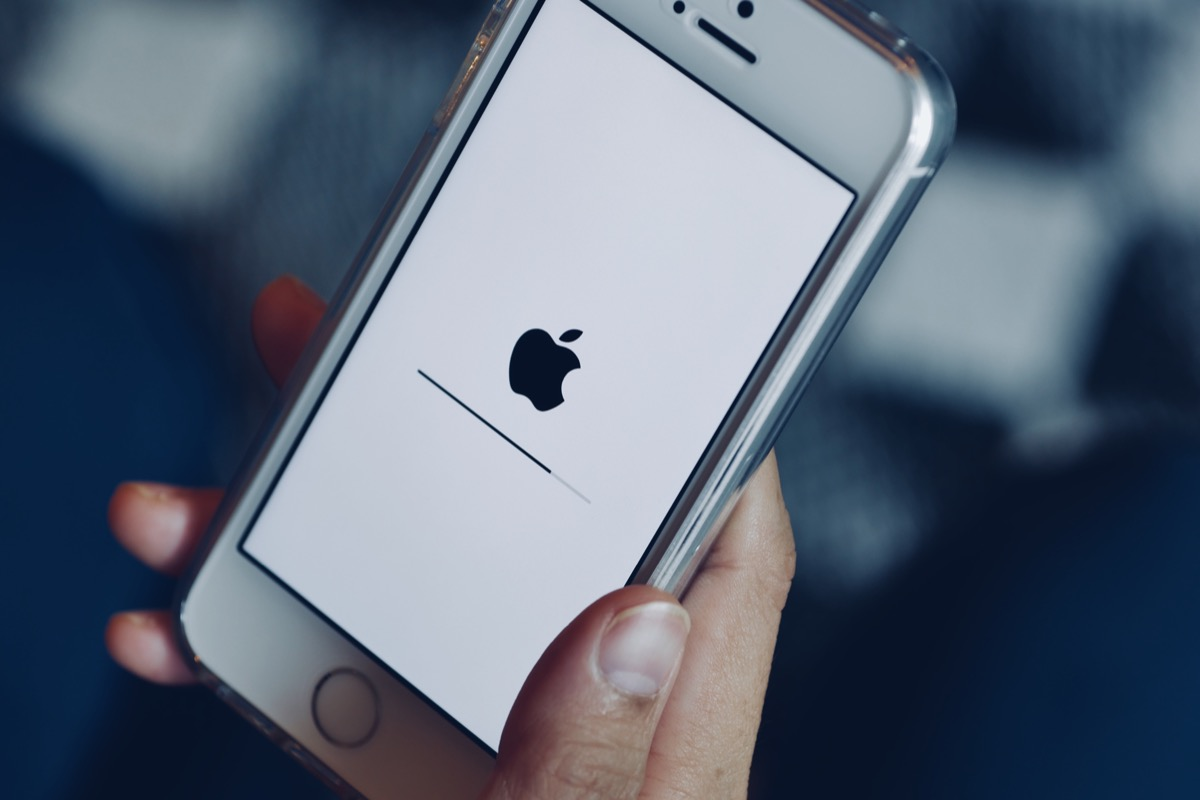iPhone screen loading on