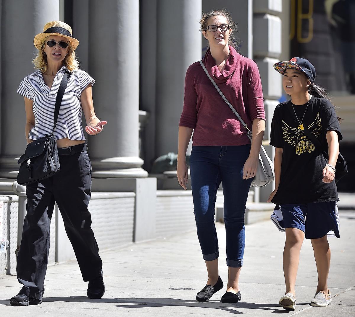 Meg Ryan and Daisy True Ryan walking in NYC