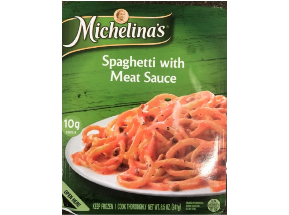 Michelina's Spaghetti with Meat Sauce recall, package