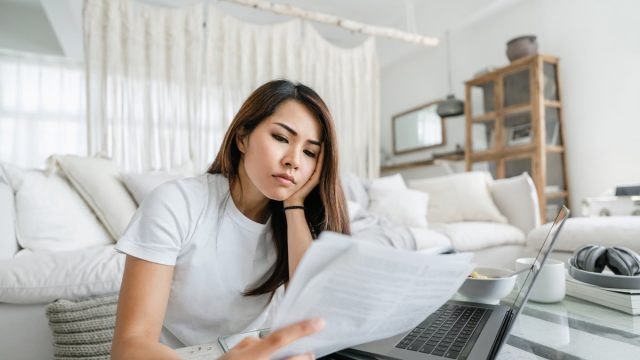 handling paperworks and going through her financials
