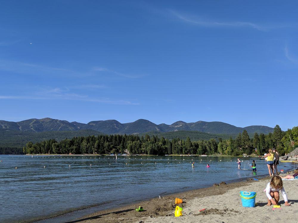 Whitefish City Beach in Montana