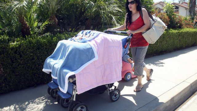 Nadya Suleman sighting at a local park on May 06, 2009 in Los Angeles, California.