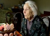 Woman over 100 years old