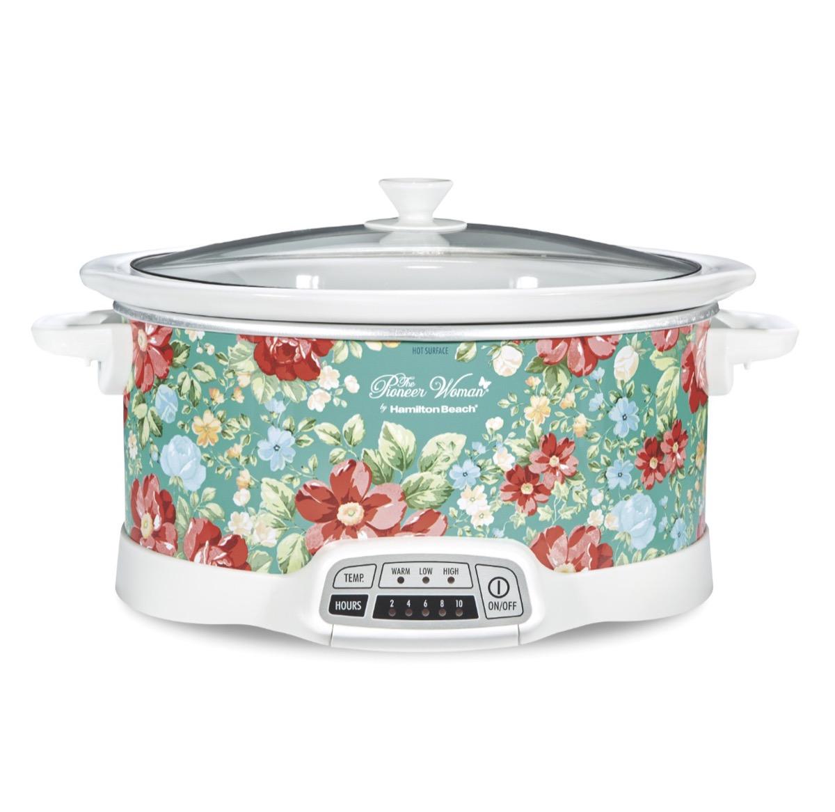 floral patterned slow cooker