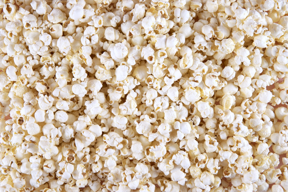 fresh popcorn pieces