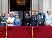 Members of the Royal Family on the balcony of Buckingham Palace