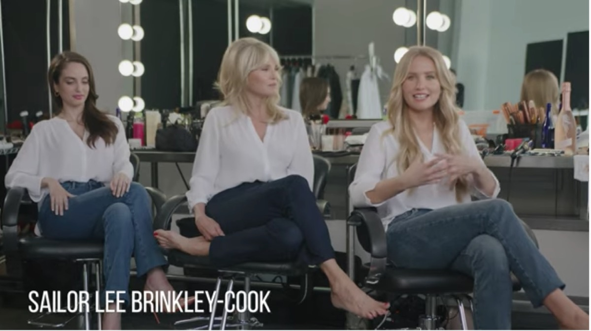 sailor brinkley-cook with her mom and sister during nydj campaign