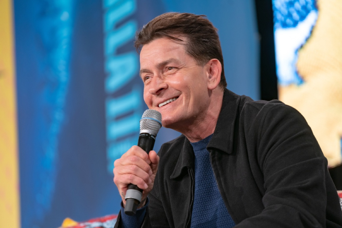 charlie sheen answering press questions