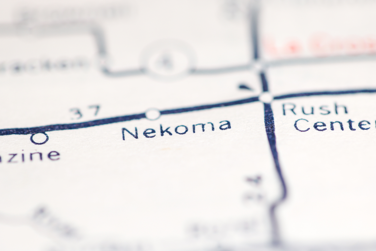 Nekoma, Kansas on map