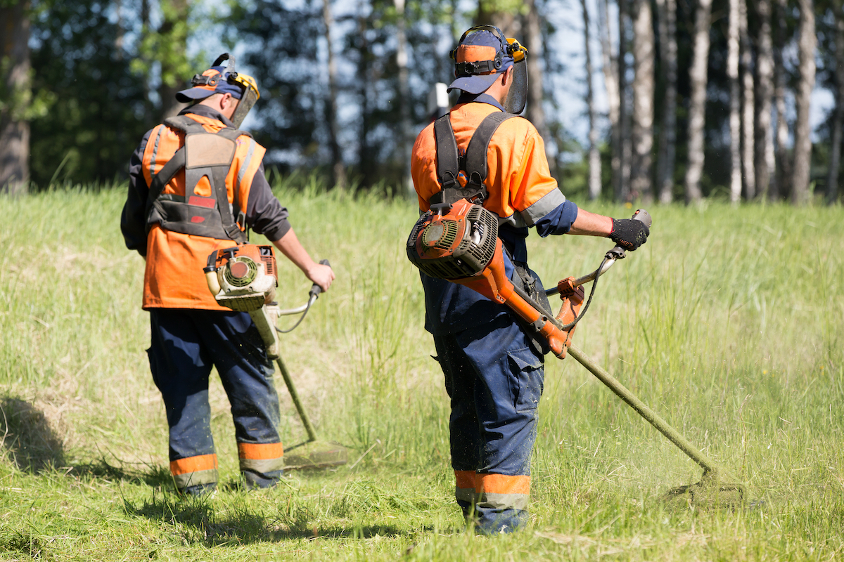 Ground maintenance workers