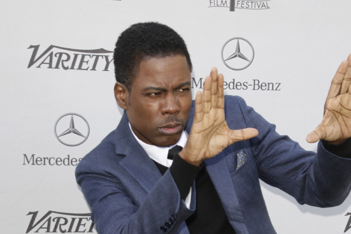 chris rock on the red carpet