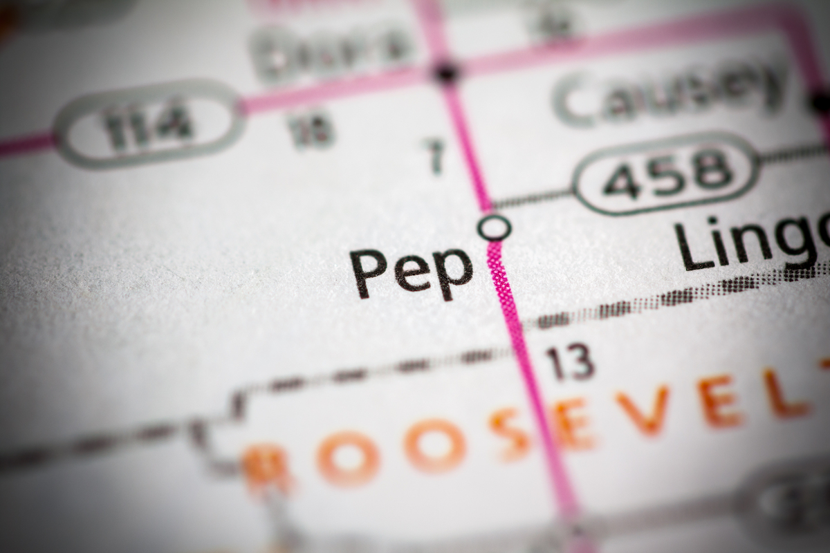 Pep, New Mexico on map
