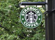 starbucks logo outside a store