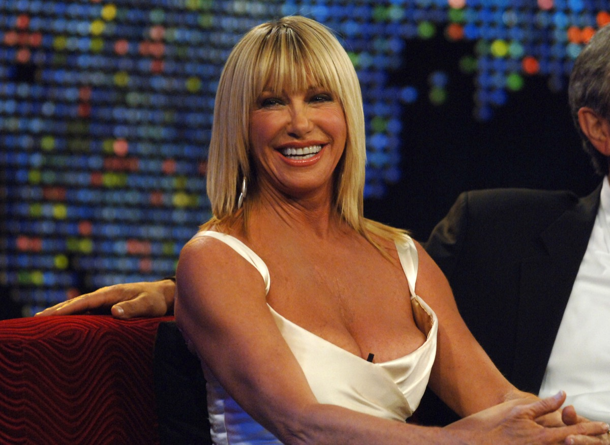 suzanne somers smiling and happy