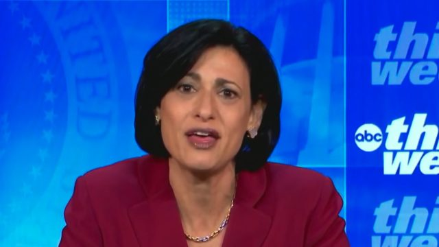 CDC Director Rochelle Walensky appearing on ABC's This Week on May 16