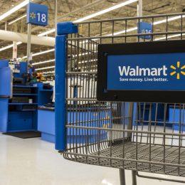 Walmart store interior