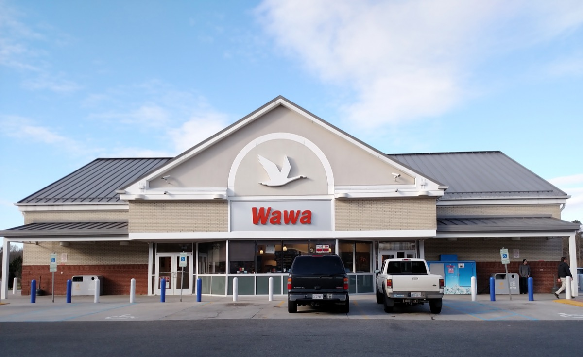 wawa store exterior in the daytime