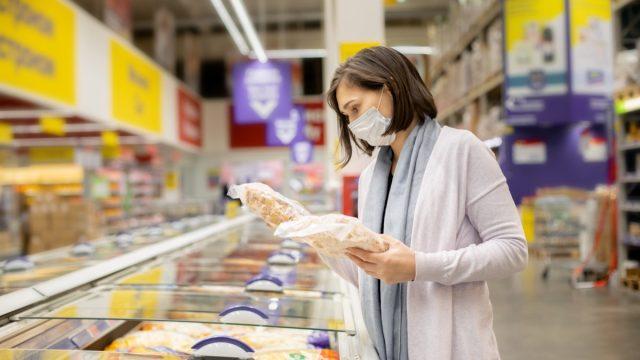 woman buying chicken